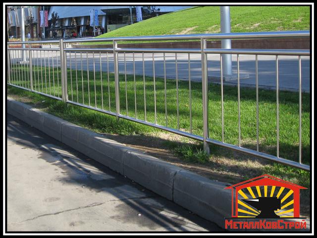 Забор из нержавеющей стали №01