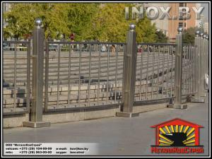 Забор из нержавеющей стали №02